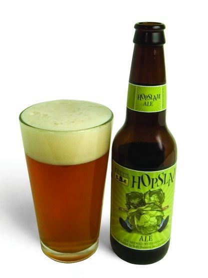 Cerveja Bell's Hopslam Ale, estilo Imperial / Double IPA, produzida por Bell's Brewery, Estados Unidos. 10% ABV de álcool.