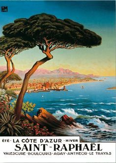 french riviera travel illustrations antibes - Google Search