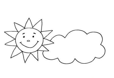 Okul öncesi Hava Durumu Boyama Sayfaları Hava Durumu