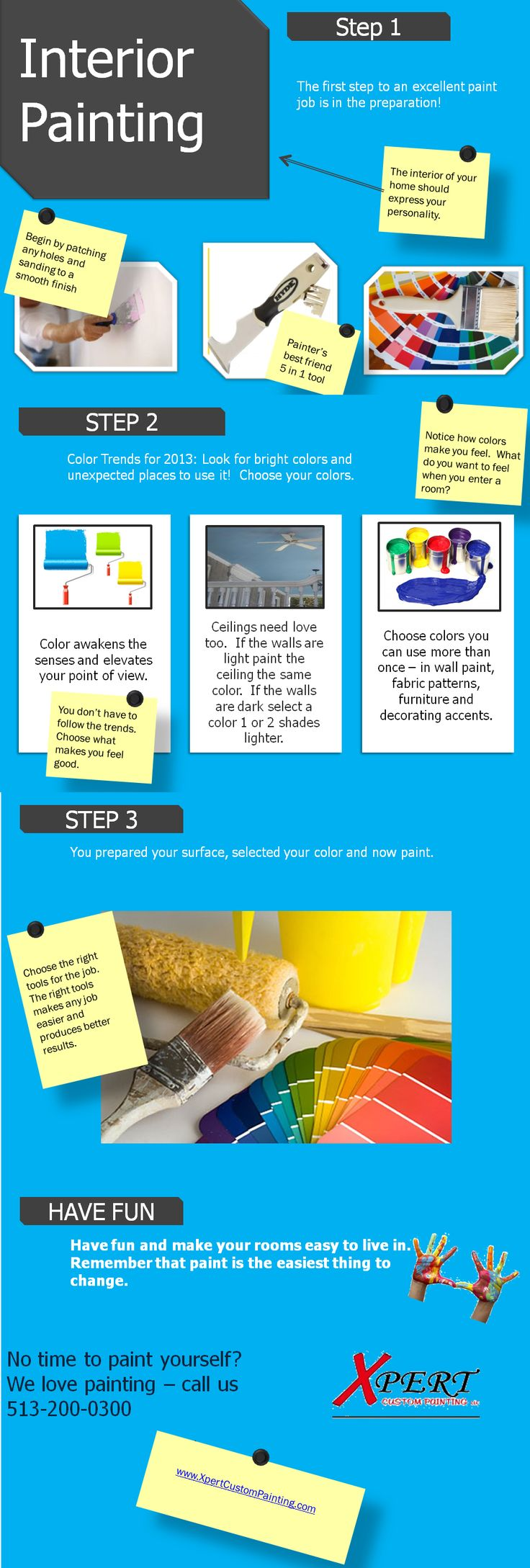 Great Infographic For Interior Painting