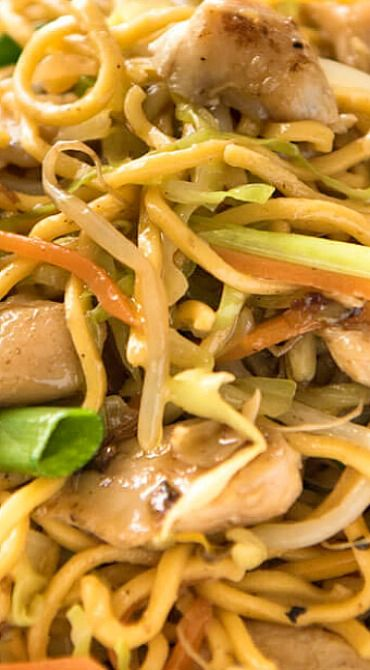 Proper Chicken Chow Mein-sauce makes this dish. The sauce would be great over noodles alone. Next time I want to try this over rice.