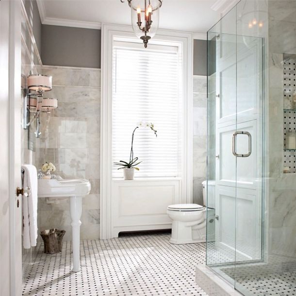 This Grecian Marble Helps Create A Timeless Looking Bathroom, Fit For A God Or Goddess