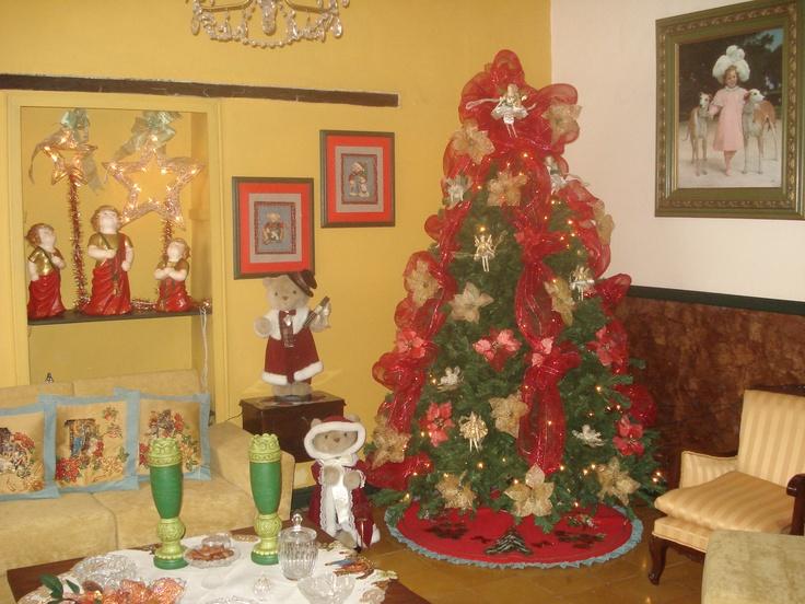 arbol y decoracion de navidad por Sandra Lopez