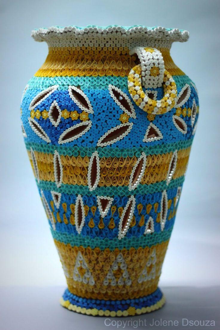 25 best quilling vase images on pinterest paper quilling for Paper quilling work