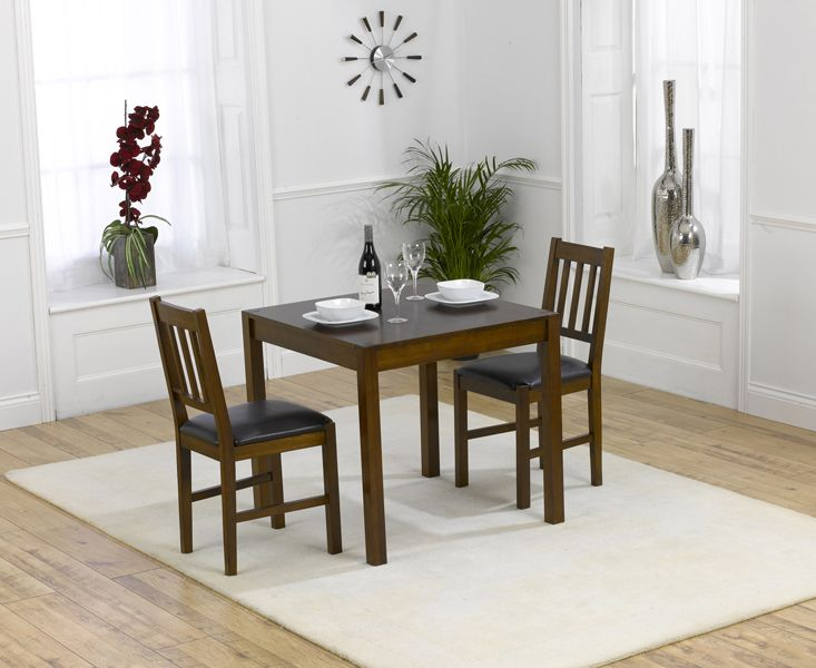 Buy The Oxford 80cm Dark Solid Oak Dining Table With Chairs At Furniture Superstore