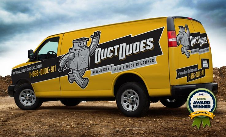 Award -winning mascot design and fleet branding on this retro-themed truck wrap design for this NJ HVAC contractor.