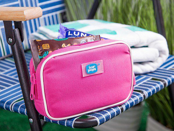 Cool-It Caddy's insulated bags, discovered by The Grommet, protect heat-sensitive items on hot days. Hidden cooler packs keep snacks, makeup, or meds chilled.