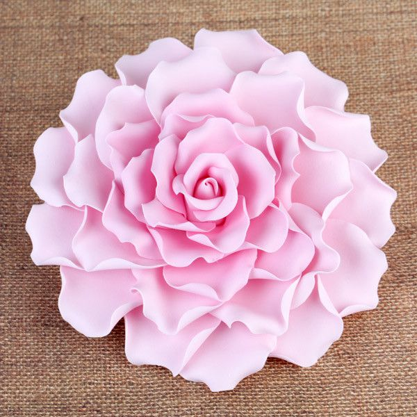 "Gumpaste Flowers For Wedding Cakes: Extra Large 6"" Gumpaste Rose Sugarflower Cake Topper"