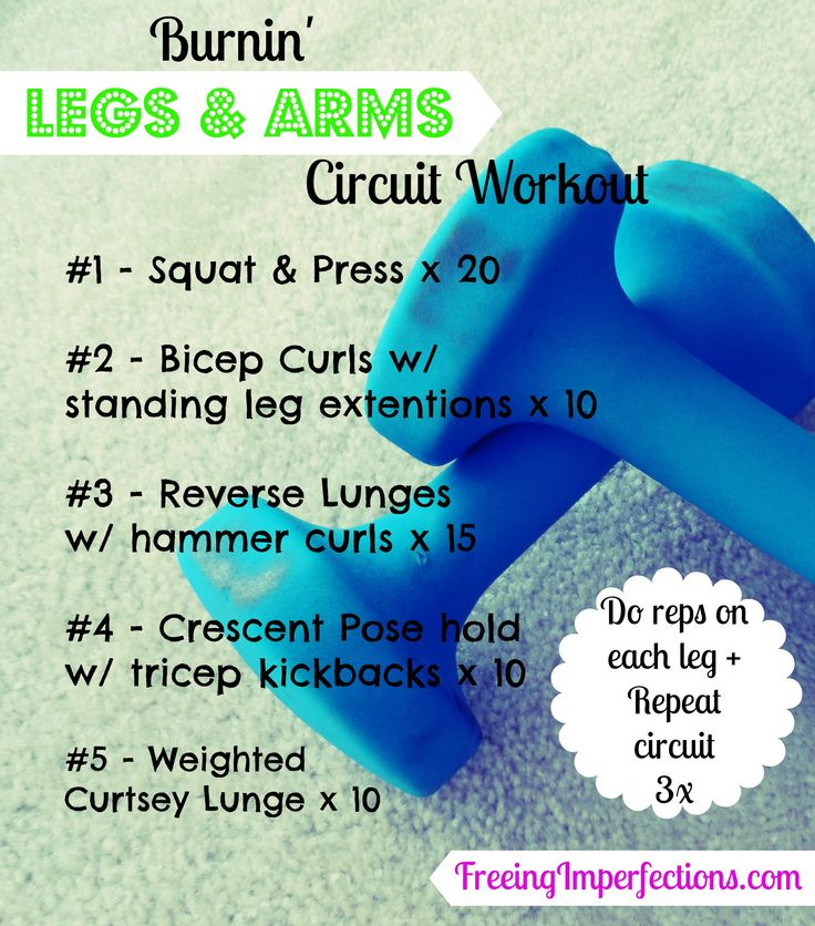 Jim would be so proud!   Burnin' Legs & Arms Workout