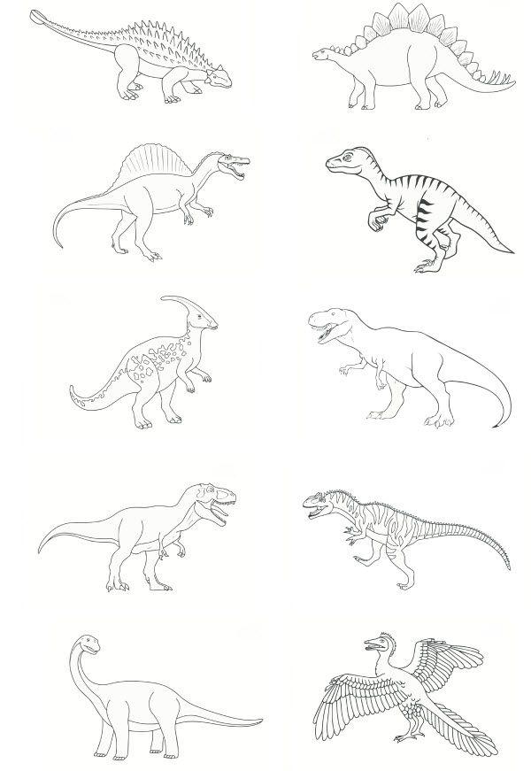 Pdf dinosaures colorier recettes enfant pinterest - Lou coloriage ...