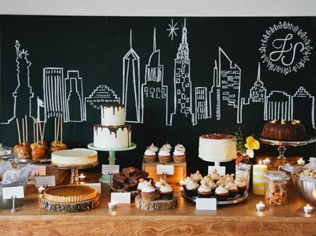 Estilismo New York en el buffet de postres de una boda - Estilo nórdico | Blog decoración | Muebles diseño | Interiores | Recetas - Delikatissen