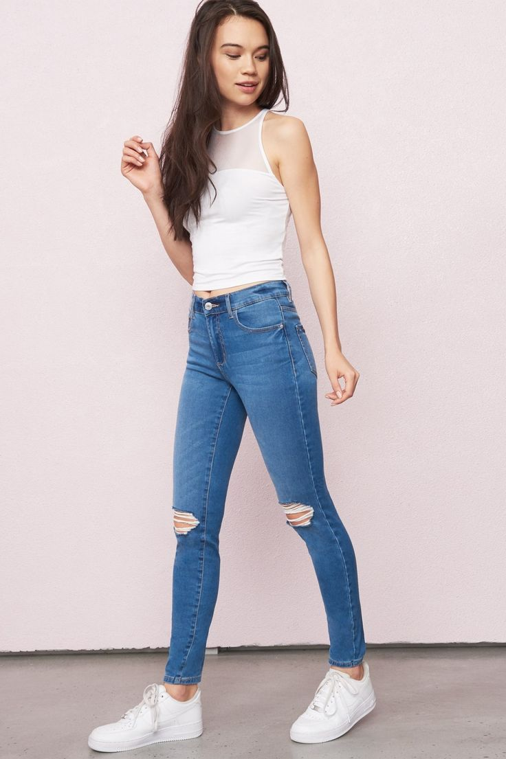 Seville Blue Retro High Waist Super Soft Jegging