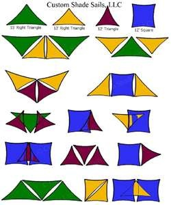 Mix and match Shade Sails