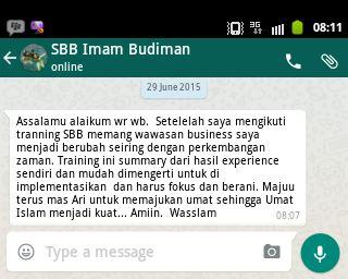 Alumni Training SBB Batch 15 - Imam Budiman