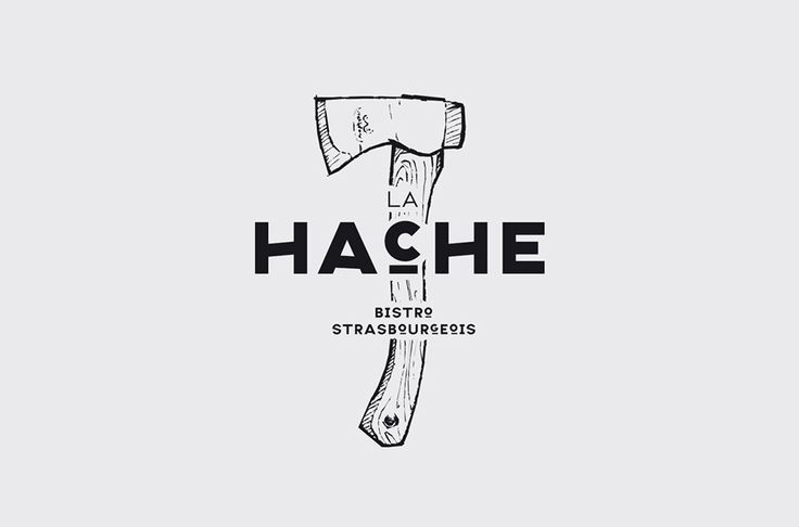 Maybe one main tool with word BUILDER across the front and remaining business name below?  La Hache Logo designed by Drach P Claude