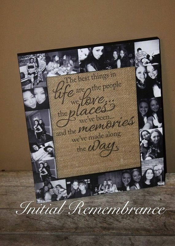 Valentines Day Picture Frame Collage, Photo Frame, best friend Gift, bachelorette party, Maid of Honor, Bridesmaid, Sister Gift,