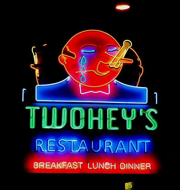 'Twohey's' Restaurant Neon Sign:  Alhambra, California / photo by robotlizzz