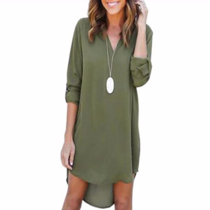 Irregular Chiffon Loose Women Tunic Long Shirt