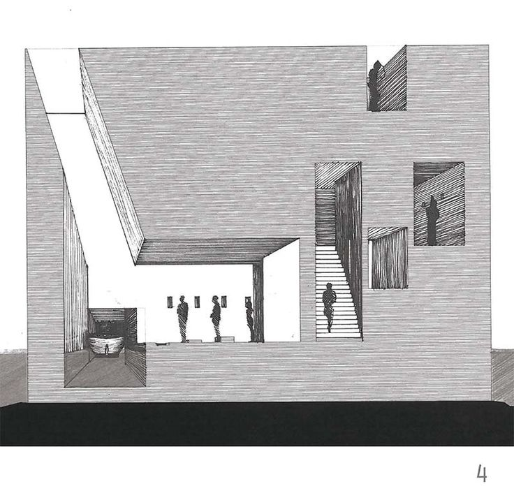 Section Drawings by Céline Jesberger and Pierre-Louis Filippi