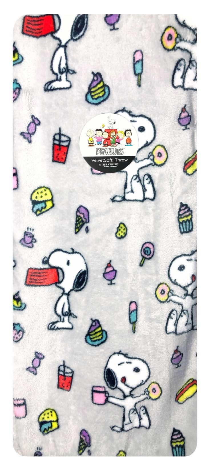 Berkshire snoopy with food plush throw blanket 55 x 70