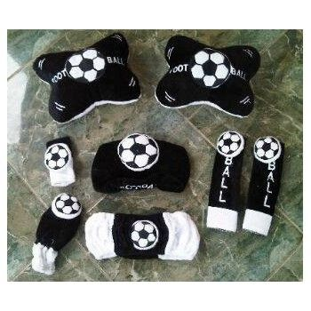 Bantal Mobil Set 6 In 1 Foot Ball Black / Bola https://www.bukalapak.com/chamboja
