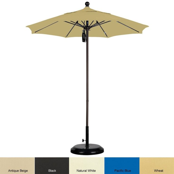 lauren u0026 company sunbrella 75foot commercial aluminum umbrella with stand antique beige