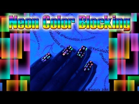 Neon color blocking nail design / Неоновый дизайн - YouTube