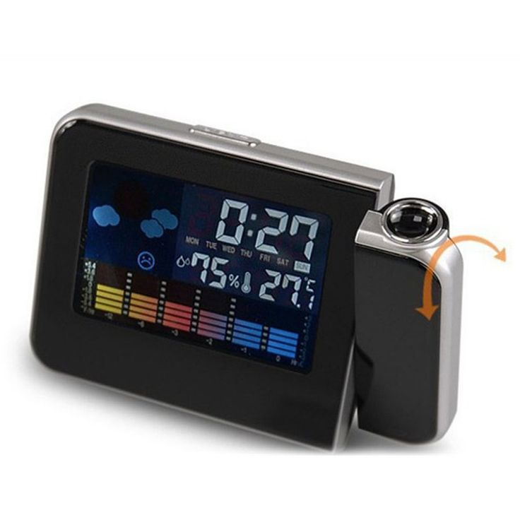 Attention Projection Digital Weather LCD Snooze Alarm