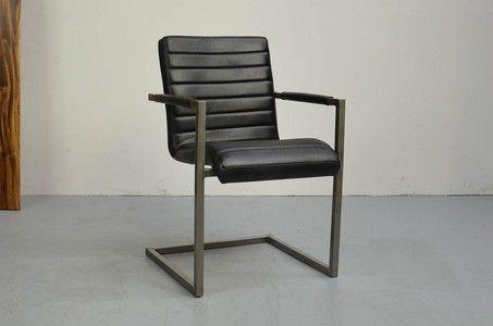 Industriedesign Freischwinger Leder B-Ware