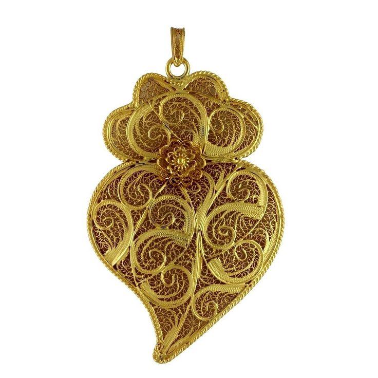 Medalha «Coração de Viana» Prata Dourada