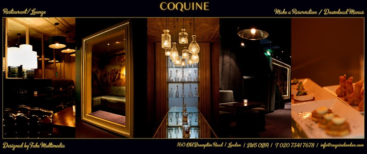 Coquine London, 160 Old Brompton Road, London, SW5 0BA. Cocktails!