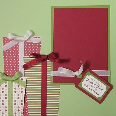 Christmas scrap page - Suz's Stampin Spot: December Club Page