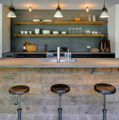 open kitchen (modern rustic)