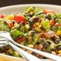 black bean salad with avocado lime dressing