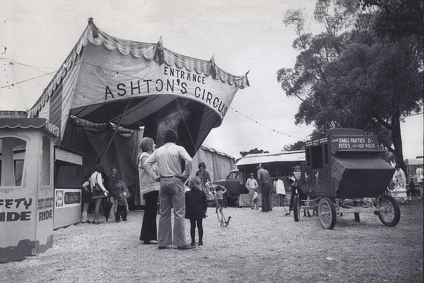 The Ashton's Circus at Richmond during the 1970's.