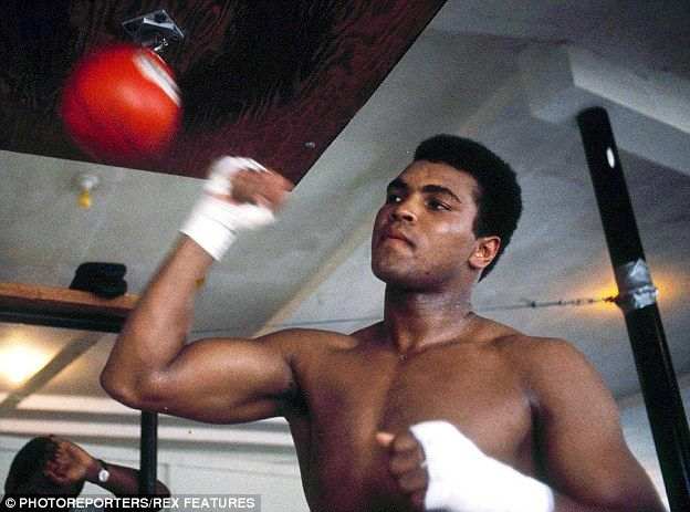 Hard work: Ali (in 1970) won the World Heavyweight Championship three times over the course of his career, a record that still stands