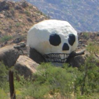 Skull rock between Hillside and Congress AZ