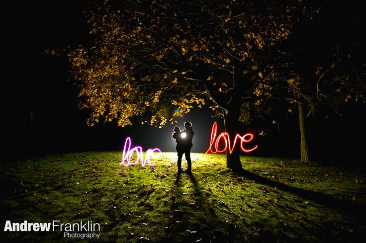 pre wedding shoot, light painting, Love by Andrew Franklin Photography, www.andrewfranklin.co.uk