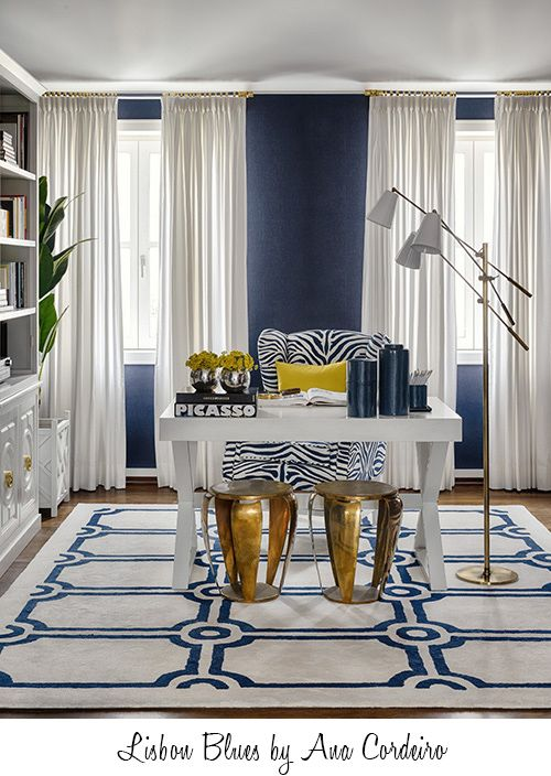 Blue and white with a pop of yellow Projects - Prego Sem Estopa