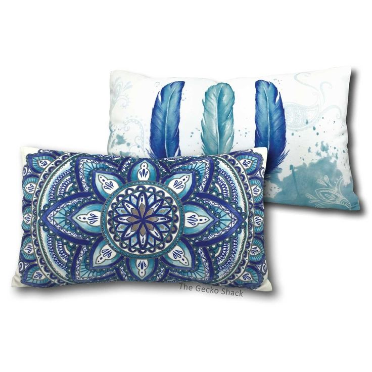 The Gecko Shack - Blue Mandala Feather Crushed Velvet Cushion, $44.95 (http://www.geckoshack.com.au/blue-mandala-feather-crushed-velvet-cushion/)