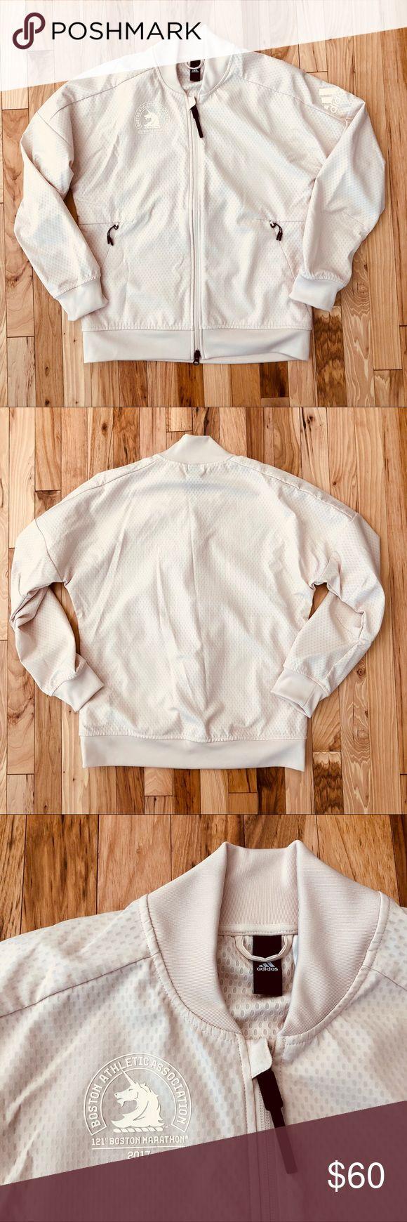 Adidas 2017 Boston Marathon jacket (M10) Very good pre-owned condition  Gently worn   Smoke-free home adidas Jackets & Coats