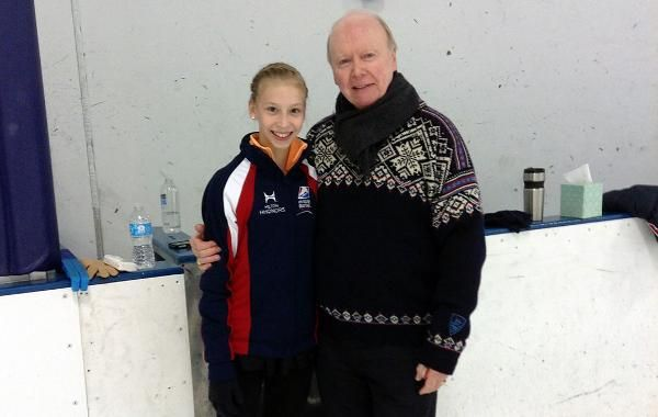 "Polina Edmunds is very appreciative of the ""fresh perspective"" Frank Carroll has brought to her skating. -courtesy of Polina Edmunds"