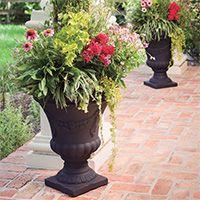 crescent garden planters. Urn Planter - Plastic Festonada By Crescent Garden Planters