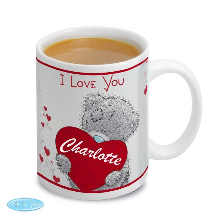 Personalised Me To You Big Heart Mug