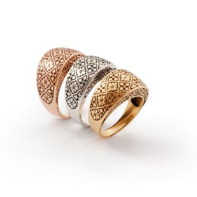 Crescent Ring. Available in rose gold, yellow gold & white gold. Geoff Mitchell design.