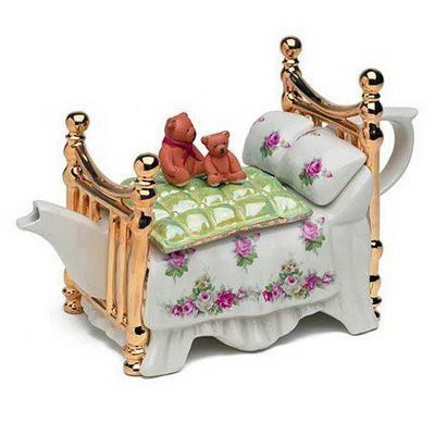 Well that's different!  Teddy Bed Teapot!