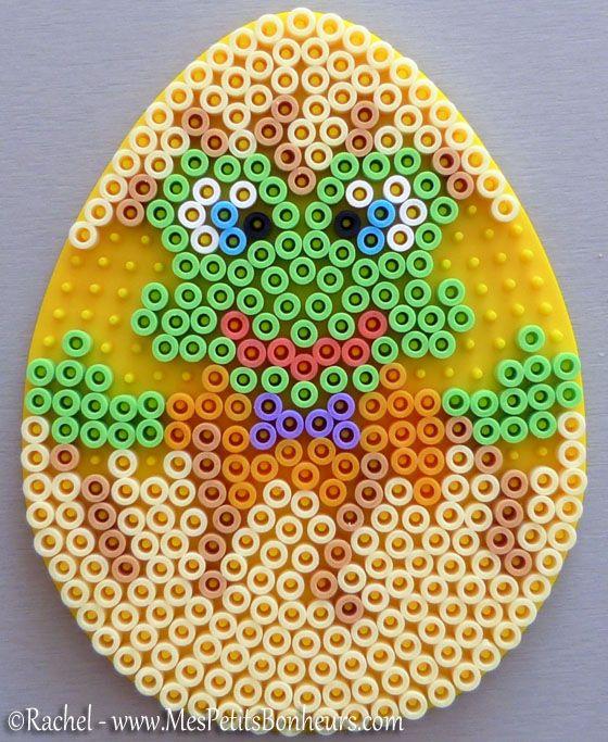 Easter Egg ornament hama perler beads by Rachel - Mes Petits Bonheurs