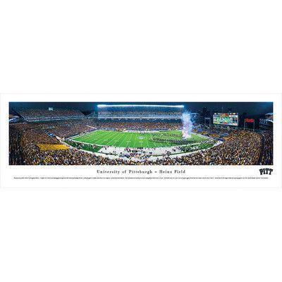 BlakewayPanoramas NCAA Pittsburgh, University of - Night by James Simmons Photographic Print
