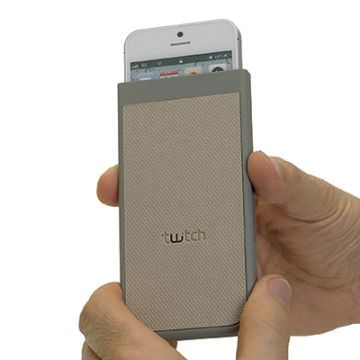 Husa Twitch Slide-Up Bej/Rosu iPhone 5
