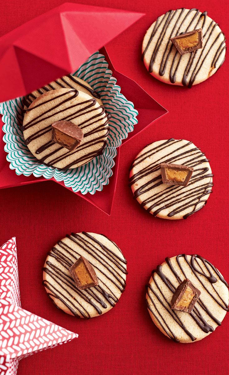 Top these addictive cookies with mini peanut butter cups for an extra treat. | Image: Canadian Living Holiday Baking 2014 | #PeanutButter #Cookies #Christmas #HolidayBaking #TestedTillPerfect